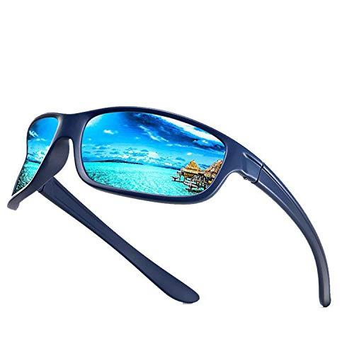 GY-Lmap Gafas de Sol polarizadas Hombres/Damas; Vintage/clásico/Marco de espectáculo Elegante; Lentes piloto HD; Golf/conducción/Pesca/Gafas de Viaje/Gafas de Sol Deportivas al Aire Libre,Azul