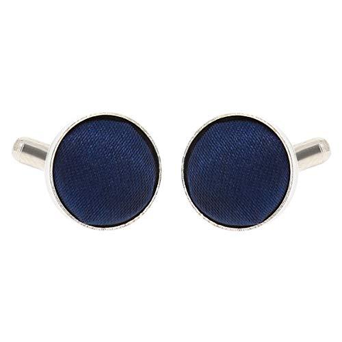 Boutons de Manchette Bleu foncé pour Homme - Accessoire Poignet Chemise et Veste de Costume - Mariage, Cérémonie