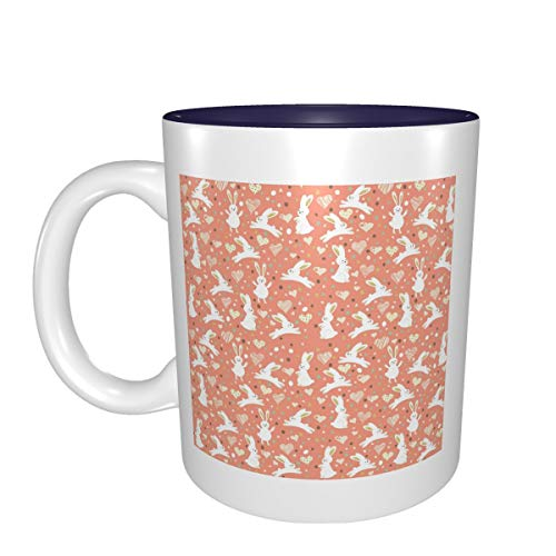 Regalo de cumpleaños para tazas de porcelana con diseño de conejo