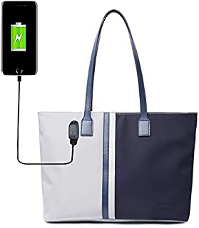 Laptop Tote Bag,Lumcrissy Large Woman Work Bag Purse Teacher Bag Fits 15 Inch Laptop