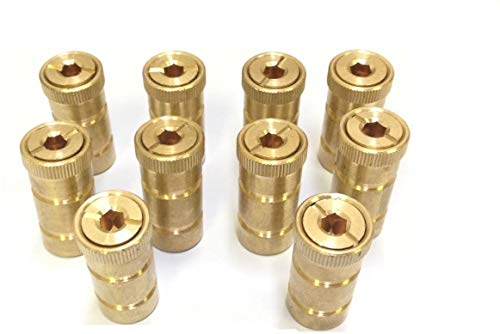 COLIBROX 10 Pack Swimming Pool Brass Deck Anchor for Pool Cover Screw in Type for Concrete Decks