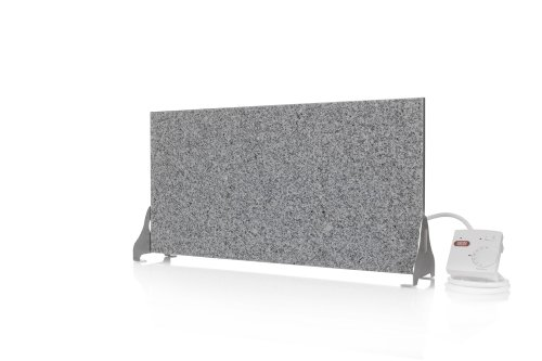 Magma® Naturstein-Infrarotheizung Granit 400 Standversion - Deutscher Hersteller seit 1992 - Magmaheizung mit 10 Jahren Garantie (Granit Grau/Weiß)