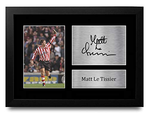 HWC Trading FR A4 Matt Le Tissier Southampton Gifts Printed Signed Autograph Picture for Fans and Supporters - A4 Framed
