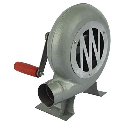 SANJIANG Hand Crank Blacksmith Forge Blower - Manual Outdoor BBQ Fan - for Barbecue, Fireplace Fan 150W