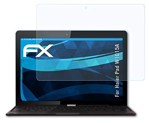 atFoliX Lámina Protectora de Pantalla Compatible con Haier Pad W1015A Película Protectora, Ultra Transparente FX Lámina Protectora (2X)