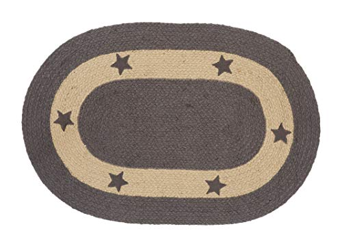 IHF Home Decor Jute Braided Rug | Oval Indoor Outdoor Area Carpet | Charcoal Gray, Tan Floor Hand Woven | Grayson Star Design Natural Doormat -20'x30' to 5' x 8' (22'x72')