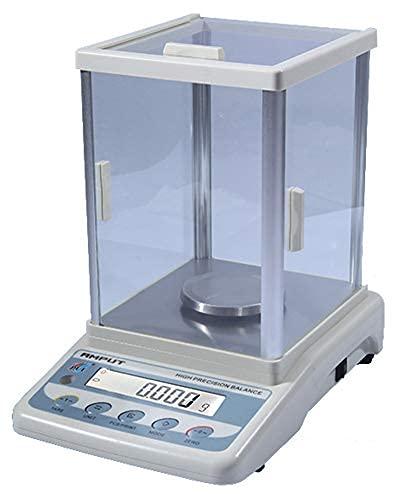 Balanza analítica digital de alta precisión, balanza de laboratorio, balanza electrónica de precisión, 1 mg para laboratorio, colegio, universidad, escuela, farmacia, joyería, tienda (100 g, 0