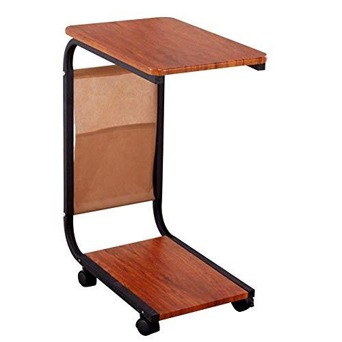 JD Bug Vouwtafel Sofa Bed Table Bureau Laptop bureau Draagbare bureau Bureau Bureau Bureau Bijzettafel Bewegende tafel met katrollen (Kleur: wit eiken)