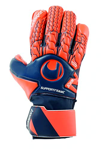 uhlsport Next Level Soft SF Torwart-Handschuhe, Marine/Fluo rot, 8