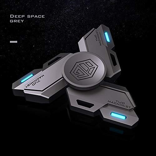 GRTVF Gyro yema del dedo luminoso de aleación de metal extra larga Tiempo Iluminar Fidget juguete mano Spinner solo dedo cojinete giratorio de alta velocidad de acero inoxidable y la ansiedad de aleac