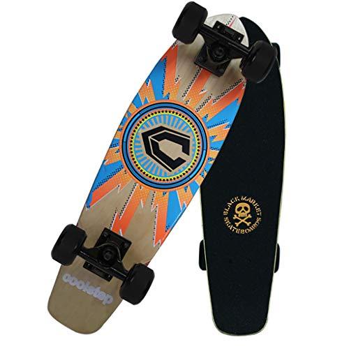 AMRU 7 Lays Maple Skateboards, Standard Skateboards, Anfänger Skateboard, 27 Zoll, mit 4 Rädern, für Erwachsene, Jugendliche, Jugendliche, Kinder-F