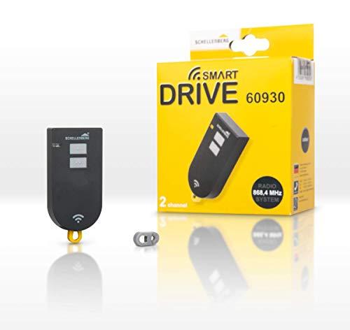 Schellenberg 60930 Garagentor Fernbedienung Smart DRIVE, 2-Kanal, 868,4 MHz, anthrazit