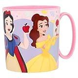 Tazza Disney Princess Principessa 350ml Bicchiere in plastica per Microonde con manico Bambini colazione (Princess)
