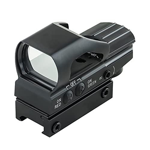HD104 Mirino Red Dot Mirino 4 Mirino Reflex Mirino Red Green Dot Mirino per montaggio da 20mm [Batteria esclusa]
