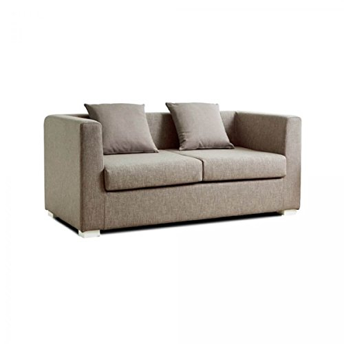 Design Twist Dorel Divano 2 Due Posti, Stoffa, Beige