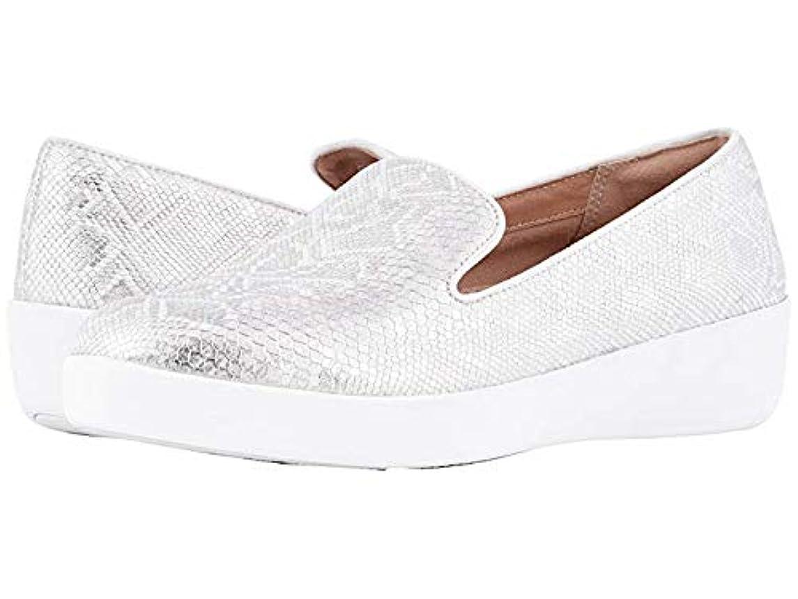 自己尊重ログマーガレットミッチェル[FitFlop(フィットフロップ)] レディースローファー?靴 Audrey Python Print Smoking Slippers Urban White US 11 (28.5cm) M (B) [並行輸入品]