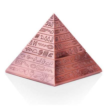 LLDKA Für Männer Raucher Retro Winddichtes Pyramide Zigarre Aschenbecher mit Deckel Egyptian Style Magic Zigarre Aschenbecher Einzigartige Geschenke,Rot