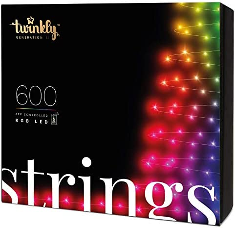 Twinkly TWS600STP 600 RGB Multicolor LED String Lights App Controlled LED Christmas Lights with product image