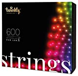 Twinkly - TWS600STP 600 RGB Multicolor LED String Lights - App-Controlled LED Christmas Lights with Green Cable (157.5ft) - IoT & Razer Chroma Enabled - Indoor/Outdoor Party Decorations
