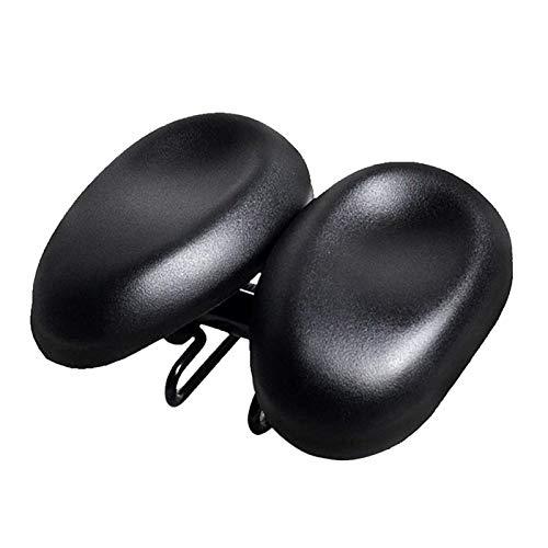 GeKLok Two-seat Bicycle Cushion, Bike Seat Bicycle Saddle, Large Wide Comfortable Exercise Bike Seat Pad for Women Men Ergonomic Adjustable Dual Padded Noseless