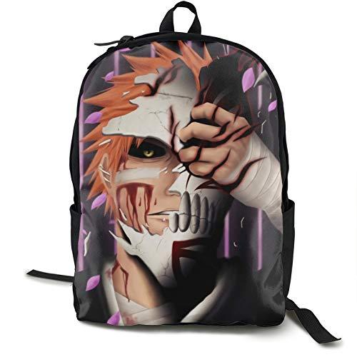Anime Bleach Backpack High-Capacity Book Bag Wear-Resistanttravel Rucksacks Portablelaptop Bookbag School Backpacks For Boy