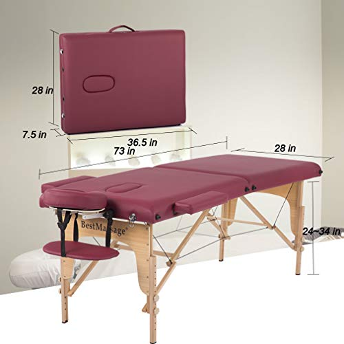 BestMassage Two Fold Portable Massage Table