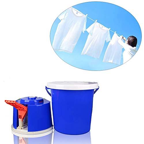 GYLJJ Mini Lavadora con Pedal de Movimiento Fitness sin Fuente de alimentación electrónica para Dormitorio doméstico de Camping (Azul)