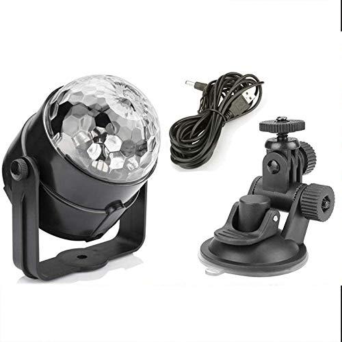 Luces de la Etapa con Control Remoto, ALED LIGHT 3W LED RGB DJ Etapa de Luz de La Bombilla 7 Modos de Colores de Iluminación Luces de Etapa para Fiestas, Bar, Partido, Disco,Club