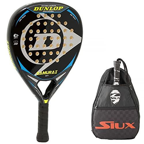 Pala de Padel Dunlop Samurai + Bandolera Siux / Mejores Palas de Padel para Hombre y Mujer / Raqueta...