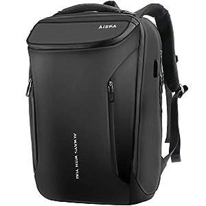 リュックメンズ リュックサック AISFA 防水レバー付き 17インチ PC ビジネス バックパック ラップトップバック bag大容量 USB充電機能付き30L 男女兼用 アウトドア旅行 学生 バッグ 通勤 修学 A4収納