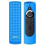 TiMOVO Funda Compatible con Fire TV Stick 4K Control Remoto, Ligera y Suave Carcasa de Silicona a Prueba de Golpes y Anti-Deslizante para Mando de Fire TV Stick (Generación 2) - Azul