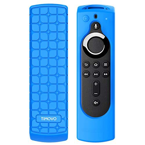 TiMOVO Custodia Protettiva per TV Telecomando for Fire TV Stick 4K, Cover Controllo Remoto in Silicone Ultra Sottile Antiurto Antipolvere - Blue
