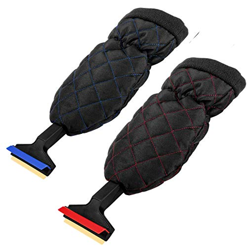 L & P Car Design Eiskratzer Murska mit Handschuh wasserdicht Eisschaber 370mm Messingschaber 2 Stück