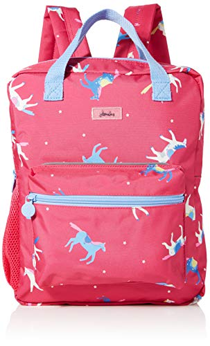 Joules Girls Easton Wallet Pink (Pink Horses), 26x33x11 cm (W x H x L)