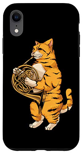 iPhone XR Funny Cat Playing French Horn | Cool Animal Musician Gift Case