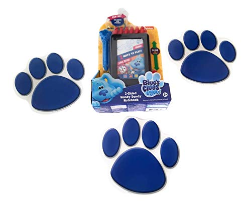 Blue's Clues & You! 2-Sided Handy Dandy Notebook Plus 3 Reusable Blue's Paw Print Clues!