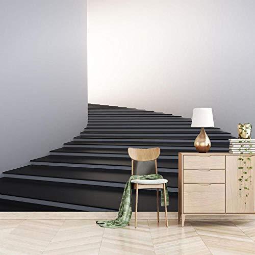 Fotobehang Zwarte Trappen Muurschildering 3D Non-Woven Moderne Woondecoratie voor Slaapkamer Badkamer 250x175cm