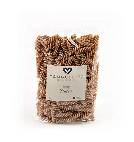 YANGO FOOD - Fusilli Paleo - Pasta a base di Farina di Semi di Sesamo e di Lino dorati. Ottimo sostituto della pasta tradizionale. Senza Glutine. 250 g