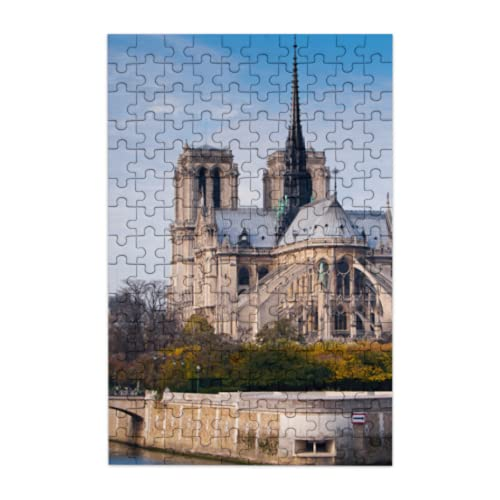 Rtosd Holiday Jigsaw Puzzle Beautiful Notre Dame De Paris Jigsaw Puzzle Sets 150 Pieces Of Adult Children's Puzzle Games Holiday Jigsaw Puzzles Suitable For Family Fun Games