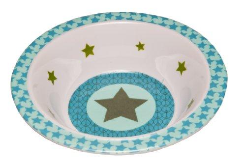 LÄSSIG Kinder Schüssel Melamin rutschfest/Bowl Starlight olive
