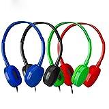 Bulk Headphones Kids Headphones for Kids,Kids Headphones Grils,Boys -YMJ Headphones Kids(Y4 Color Mixed Plastic) Earphones Headphones for Students, Libraries
