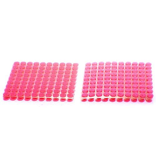 TUKA 900 Piezas(450 Pares) 10mm pegajoso Monedas Puntos, Adhesivos Círculos, Almohadillas Adhesivos, Gancho y Bucle Círculos Auto-Adhesivo, Rojo, TKB5025 Red