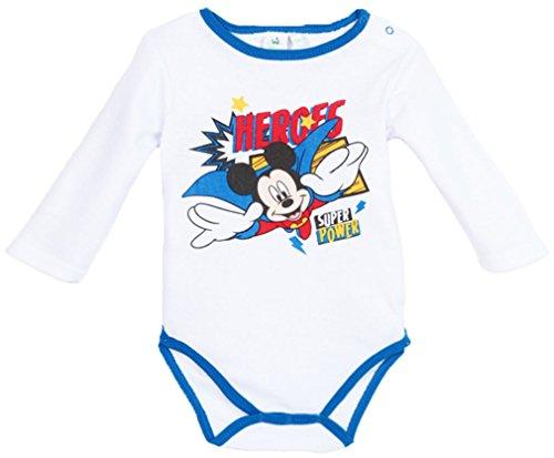 Body bébé manches longues Mickey 'Heroes' blanc/bleu de 3 à 23mois (23 mois)