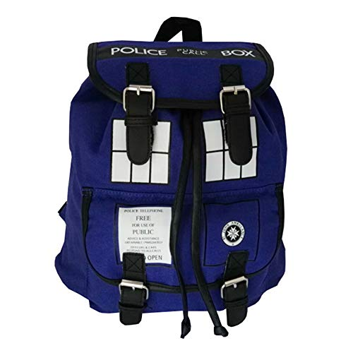 Doctor Who Rucksäcke Sparsamer und praktischer Wanderrucksack Multifunktions-Sportrucksack Doctor Who Daypacks (Color : Blue, Size : 31 X 21 X 32cm)