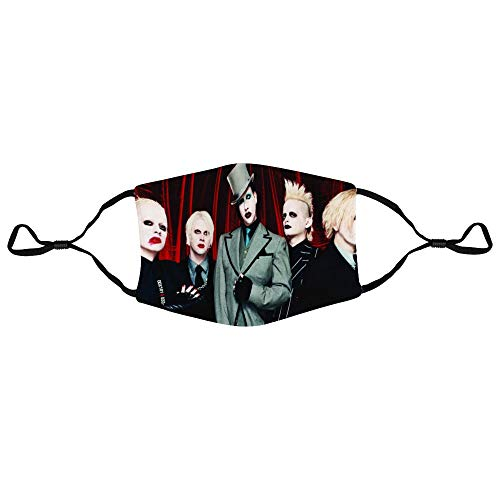 Twodances Adult Outdoor Balaclava Scarf Marilyn Manson Face Mask Bandana for Unisex 1 PCS