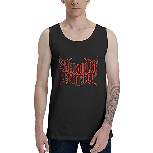 EUBCS Shadow of Intent Man's Summer Cool Sport Tank Top, Gym Workout Base Layer Tees for Guys Beach Vacation Black