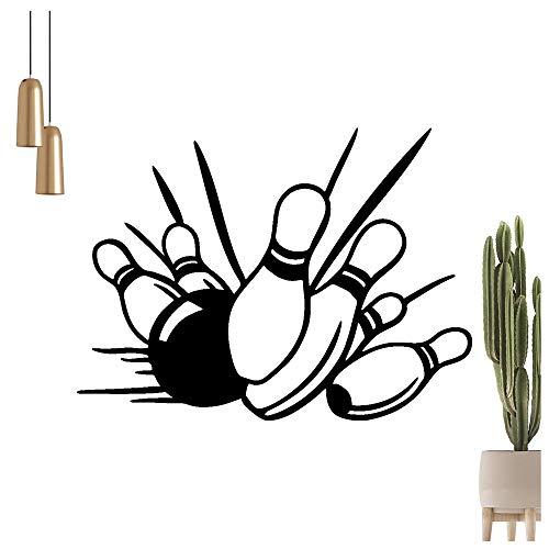 KIWISTAR Bowling - Kegeln Pins Kugel Strike Wandtattoo in 6 Größen - Wandaufkleber Wall Sticker