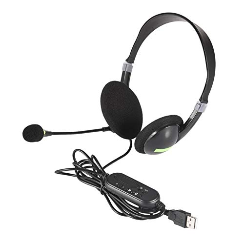 perfecthome Zestaw słuchawkowy USB, słuchawki, słuchawki, zestaw słuchawkowy do biura obsługi klienta, zestaw słuchawkowy z redukcją szumów, zestaw słuchawkowy z mikrofonem, zestaw słuchawkowy do laptopa, słuchawki przewodowe, wiele kluczy dla każdeg
