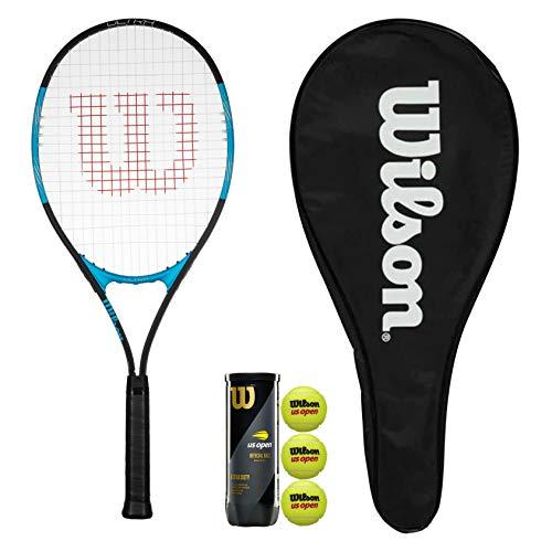Wilson Ultra Excel 112 - Raqueta de tenis con funda y 3 pelotas de tenis