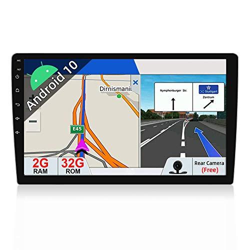 Radio universal de la unidad principal estéreo del coche del doble dinar de Android 10 |10,1 pulgadas |Cámara de respaldo gratis |2G + 32G |Soporte Sat Nav Bluetooth GPS DAB + WIFI 4G Volante 108